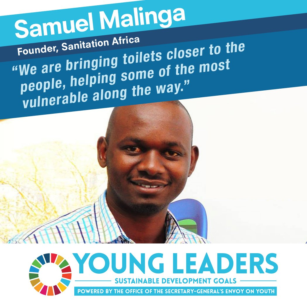 Samuel, one of the #UNYoungLeaders working to ensure access to sanitation in Uganda's rural communities #GlobalGoals https://t.co/KbdMhCP5wF
