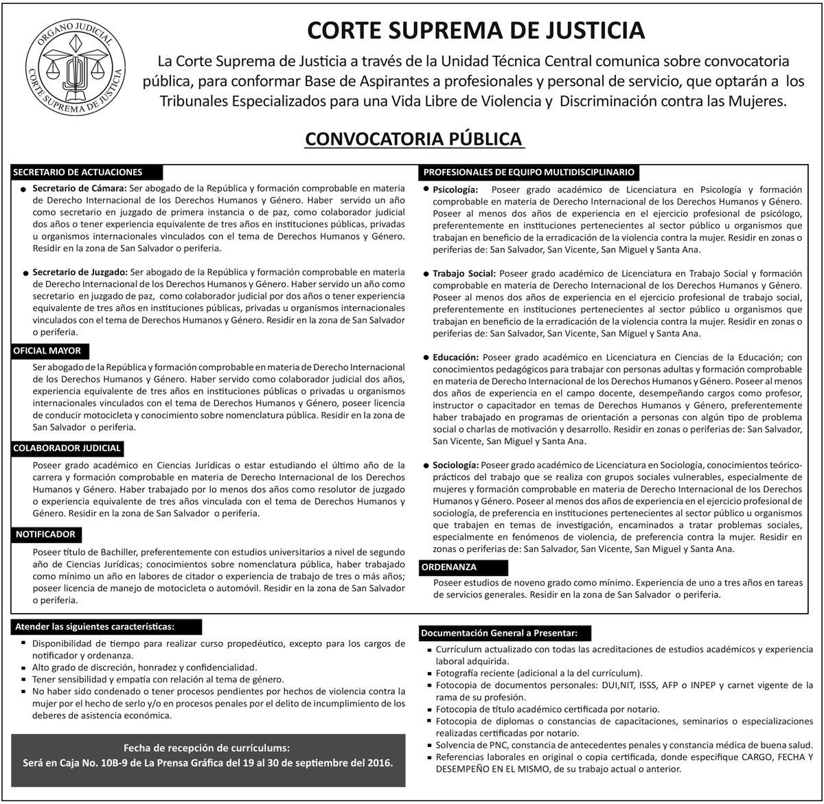 CorteSupremaSV on Twitter: \