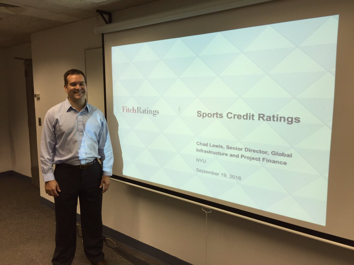 Great visit by Chad Lewis of Fitch Ratings #nyutischsports #fitchratings #sportsbiz https://t.co/knB0w50LiU