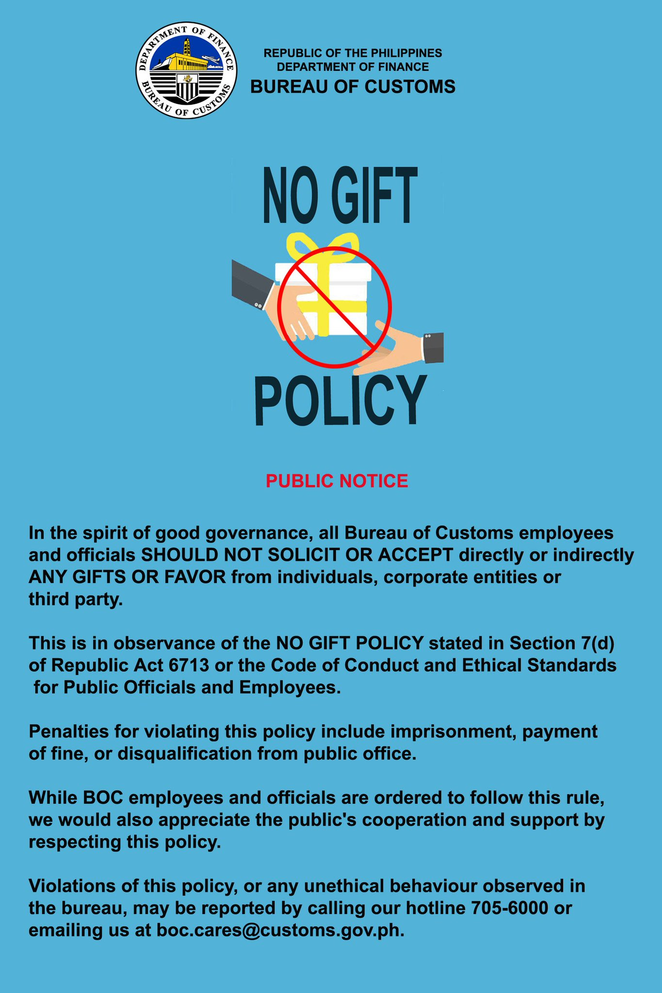 code of ethics for government officials and employees r a 6713 Senate bill 1680 seeks to amend republic act 6713, or the code of conduct and  we can hold government employees and officials to a  a high standard of ethics.