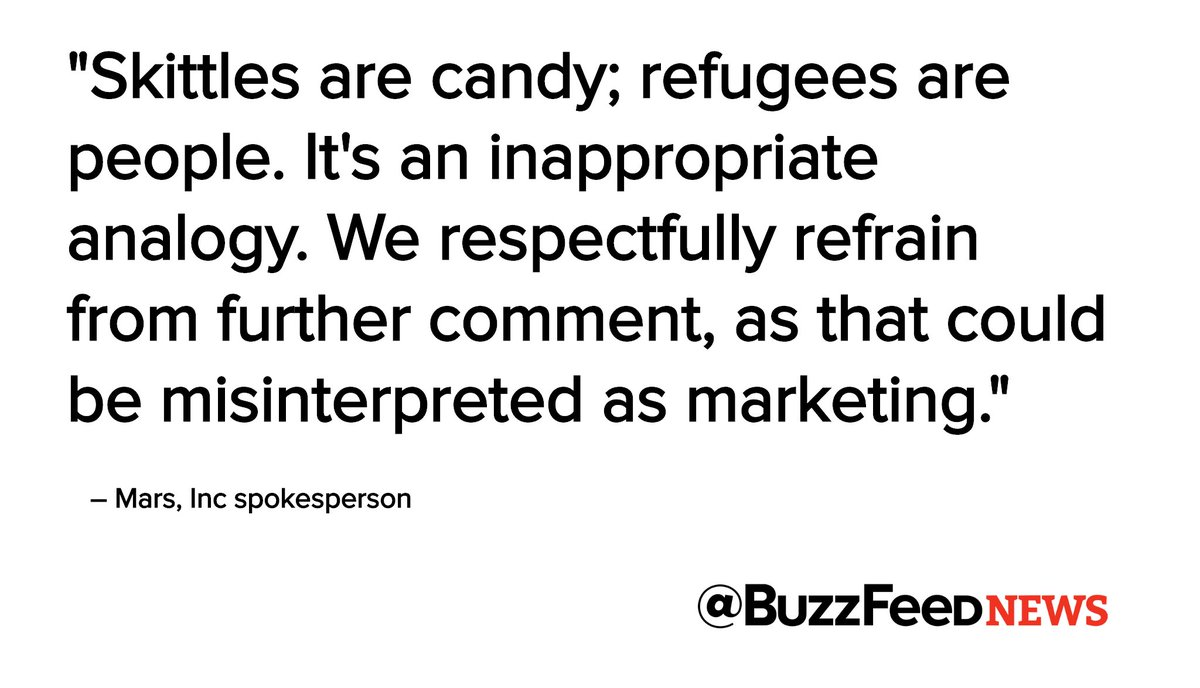 donald trump skittles syrian refugees twitter meme mars inappropriate analogy