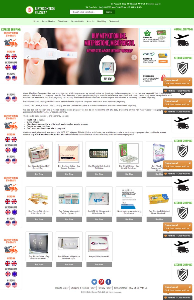 birthcontrolpills247 is best online pharmacy shop in usa httpgooglnphqkm abortionpill shop birthcontrolpills store onlinepictwittercom - Buy Birth Control Online