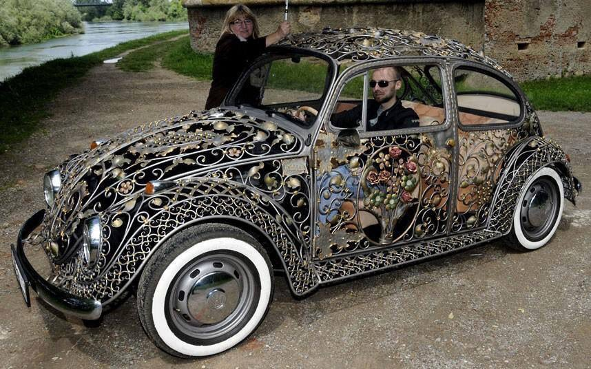 #Car Awesome of the Day: #Steampunk-ish #Victorian Filigree #Volkswagen #Beetle by #Vrbanus via @elly_sub #SamaCars