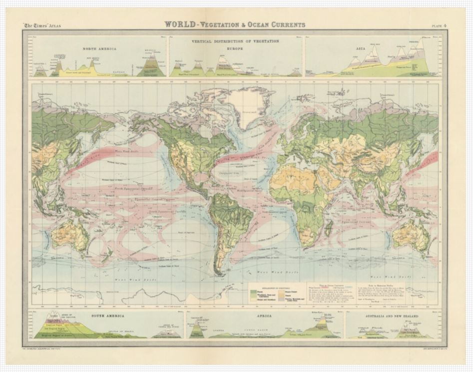 Map Of The World 1920.Nls Map Collections On Twitter Times Survey Atlas Of The World