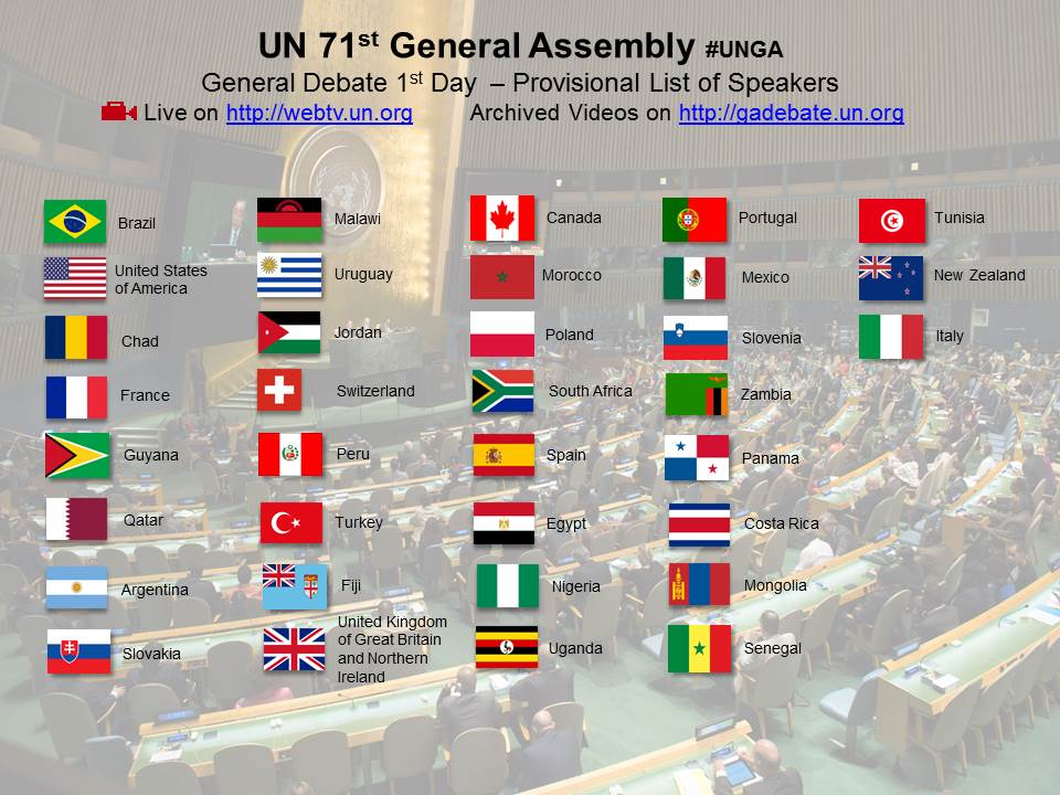 Is your country speaking today? #UNGA  Watch the @UN General debate Live and on-demand on https://t.co/aNiYovaA7o https://t.co/5NdkFmAd7p
