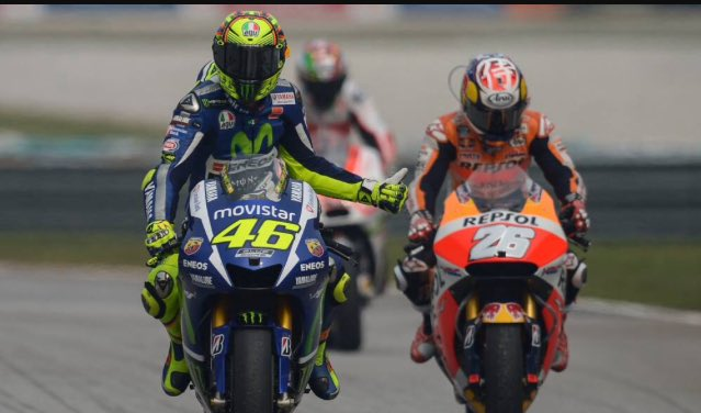 The Doctor #VR46 and The Samurai #DP26 at Sepang. #MotoGP 2015 #MalaysianGP via @diegoloparedes<br>http://pic.twitter.com/j3DmjCZ3aD