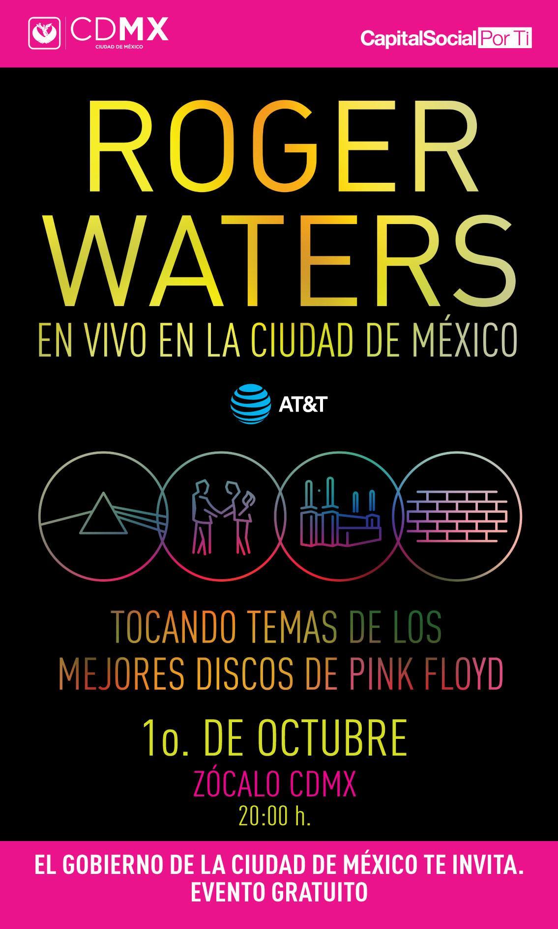 Roger Waters en el Zócalo de la CDMX