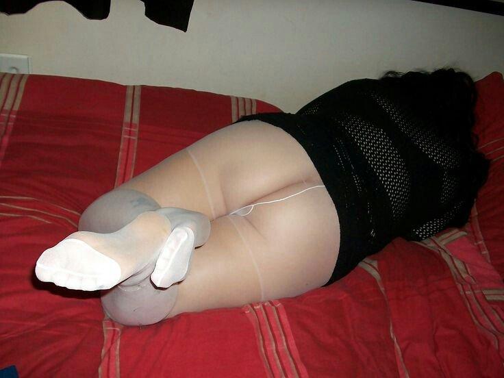 Bbw pantyhose feet
