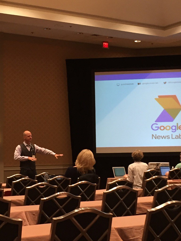 The #eij16 @GoogleNewsLab session is underway with @nickdigital ... https://t.co/UhWqk8BkKy