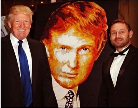 Image result for trump portrait charity