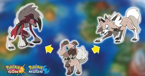 pok233mon on twitter quotrockruff evolves into different forms