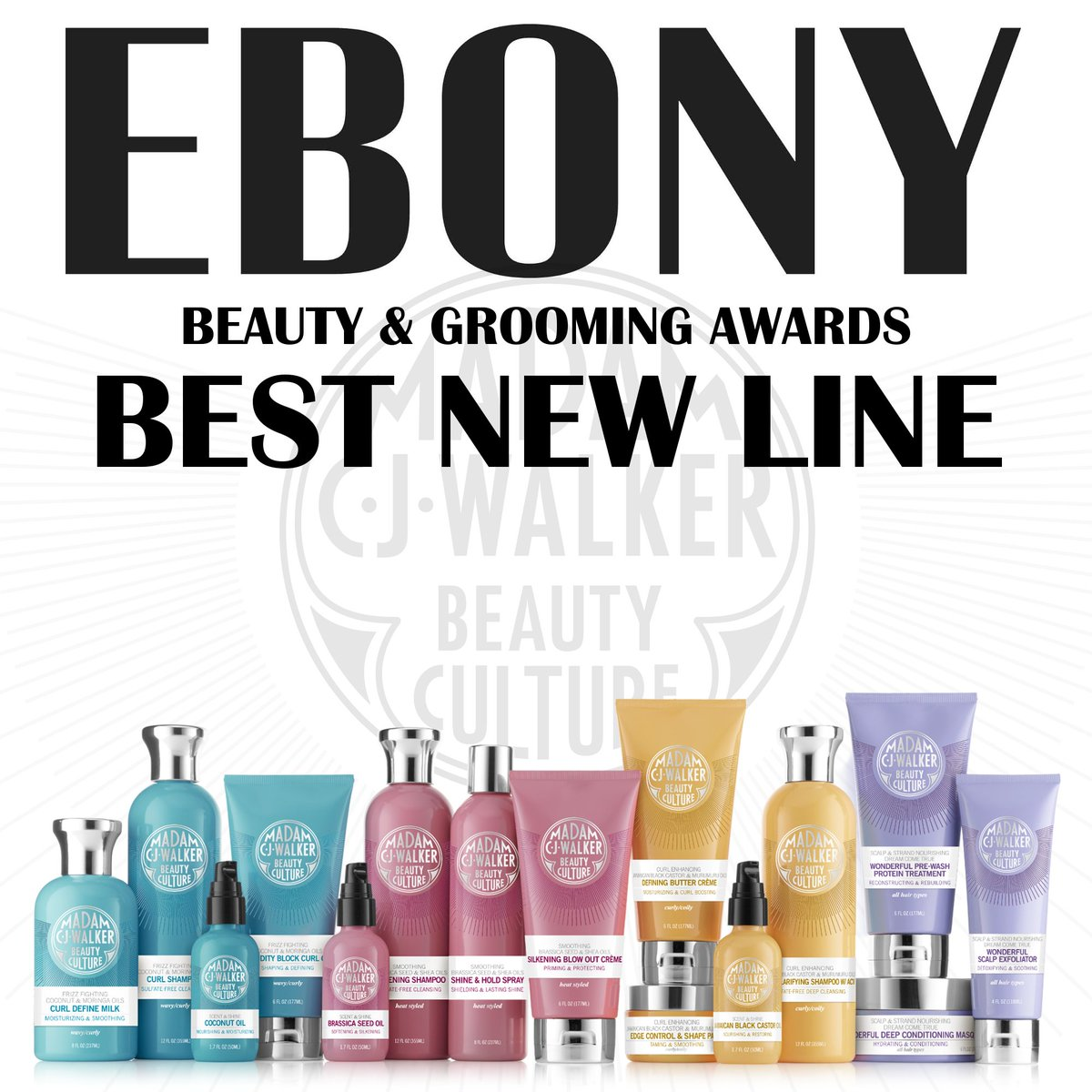 Madam C J Walker On Twitter We Re Honored To Be Named Best New Line In Ebonymag S 2016 Beauty Grooming Awards Thank You For Helping To Make This Possible Hair Https T Co Nwgeukf70n