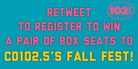 Want to win box seats to Fall Fest?! Just retweet this post to be entered! You have until Thursday at Noon! https://t.co/FlkYIb6DCB