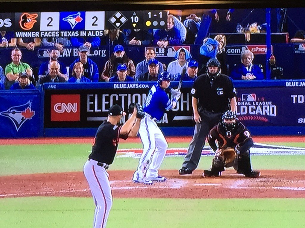 Love seeing Geddy Lee right behind the plate at #ALWildCard.  @rushtheband https://t.co/m1O1YGgM4z
