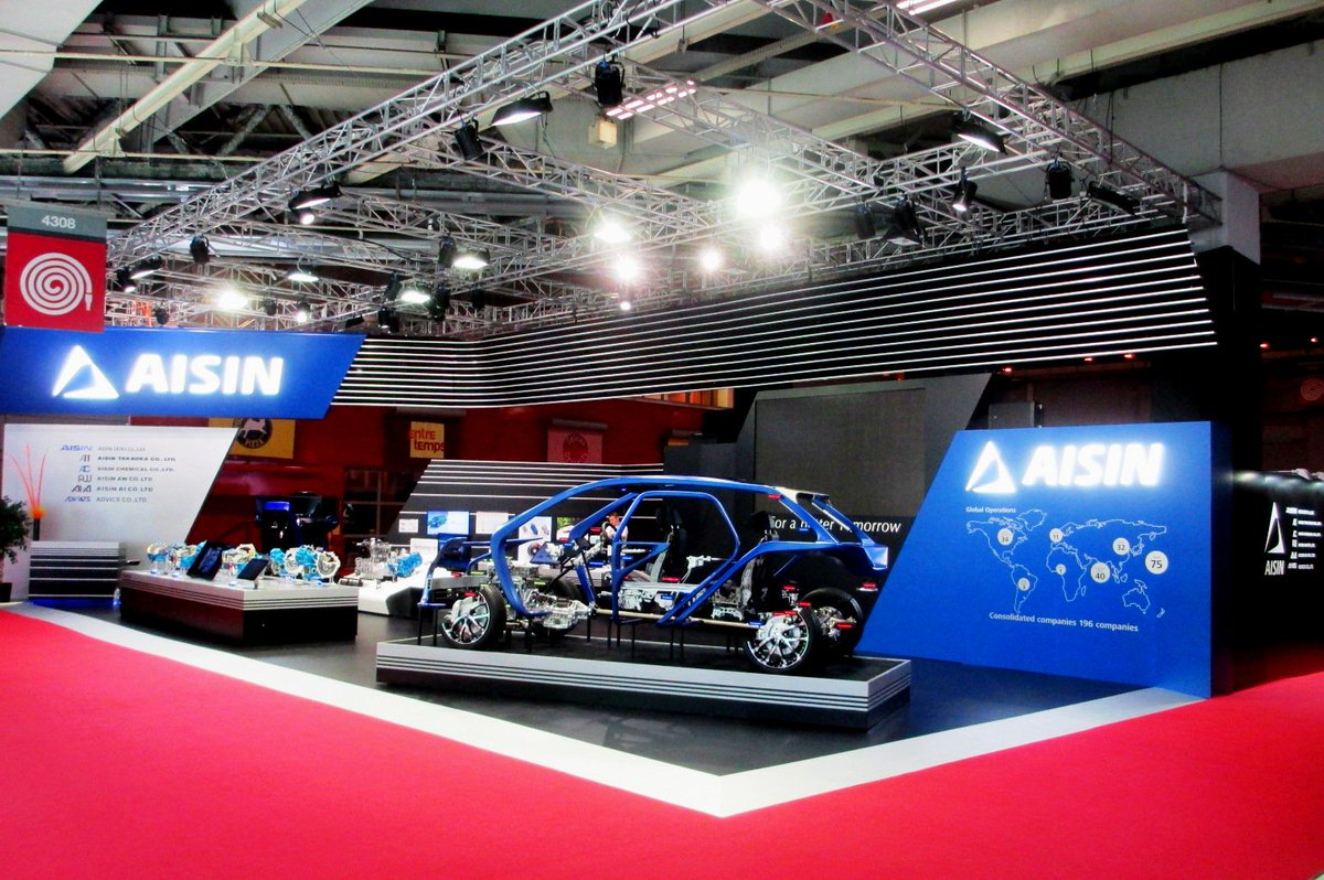 """Pico Global on Twitter: """"#Paris #Motor #Show 2016 - #Pico built show booths for two Japanese brands – Aisin and Mitsubishi. #exhibition… """""""