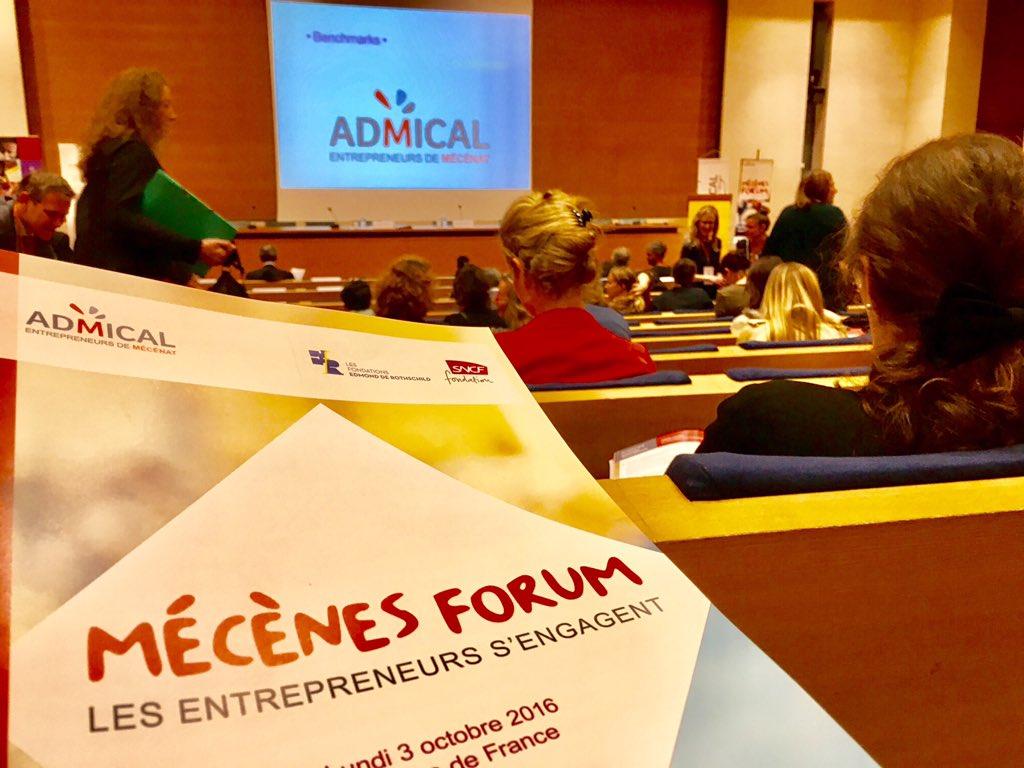 @agence_excel à Ouverture de #MecenesForum avec Francois DEBIESSE de #ADMICAL au Collège de France https://t.co/laVdFDGV28