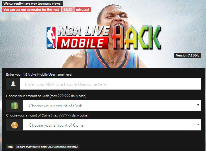 nba mobile online hack