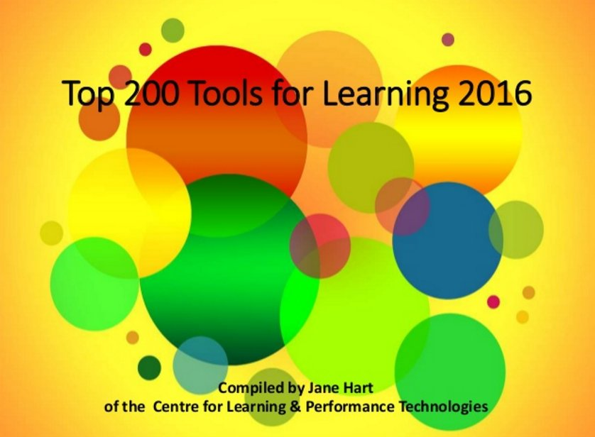 The Top 200 Tools for Learning 2016 is announced https://t.co/wD5yVEfHAH https://t.co/AuL6PsYtw5