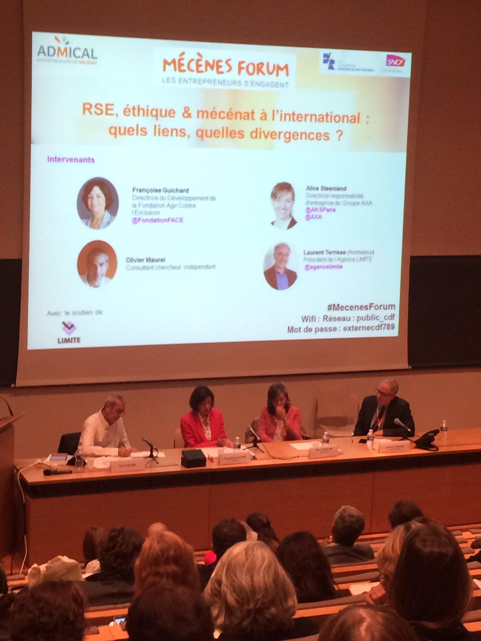 Table-ronde du #MecenesForum 2/3 : RSE, éthique et mécénat à l'international https://t.co/P6GIwWOfO0