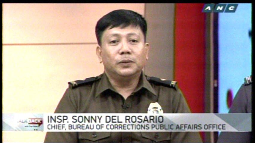 Bureau of corrections public affairs office chief sonny del