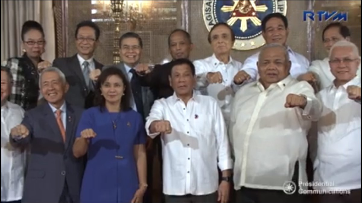 Look Vp Leni Robredo Doing The Duterte Fist W Pres Duterte
