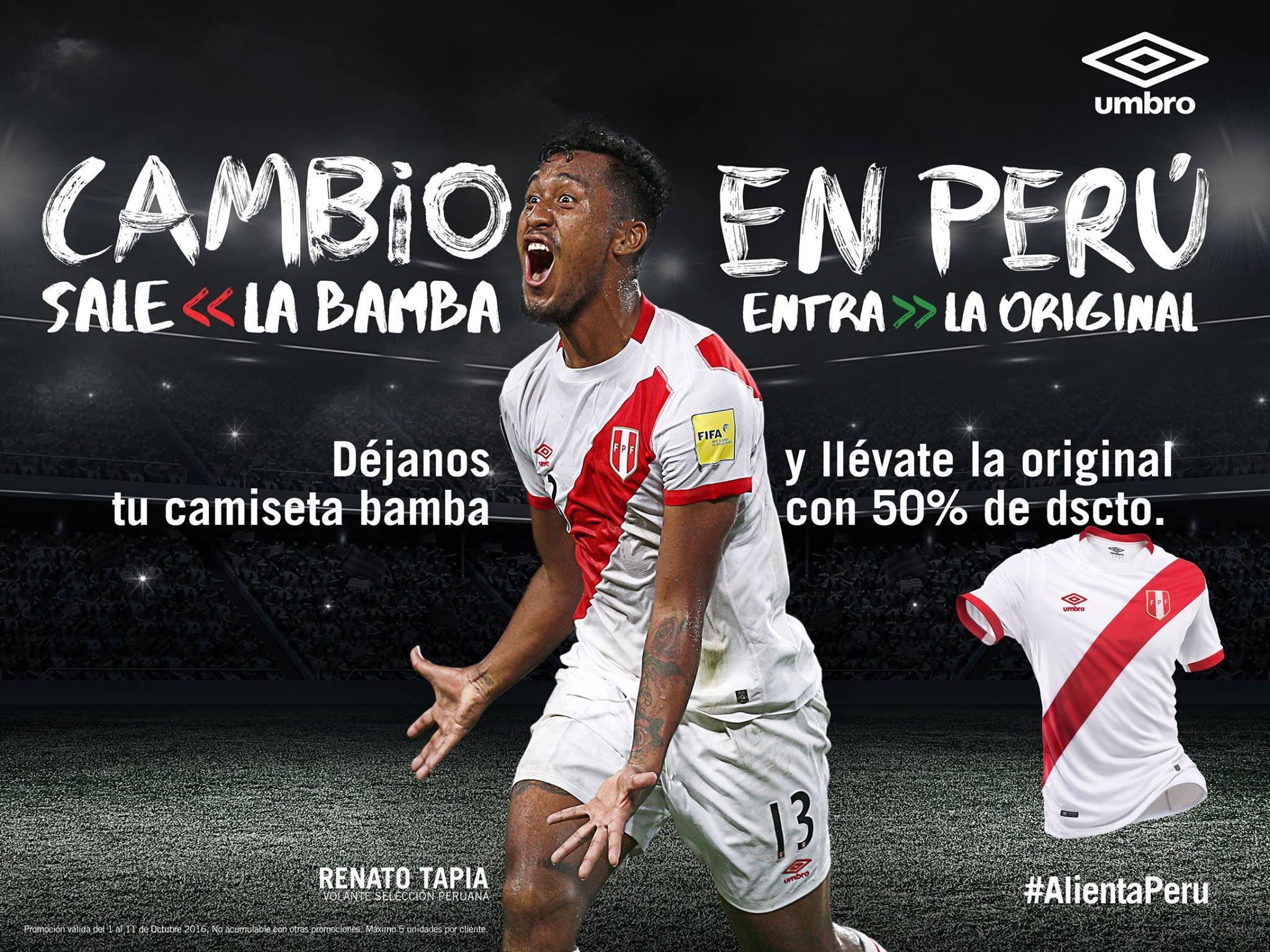 Perú cambia las imitaciones de su camiseta por las originales a mitad de precio