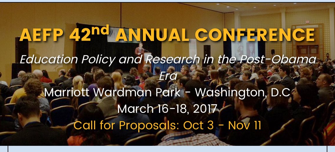 Association for Education Finance and Policy Annual Conference