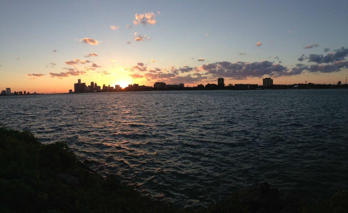 "Photo of Photo of the Day: ""...the sunset at Belle Isle."" Photo submitted by Ch"