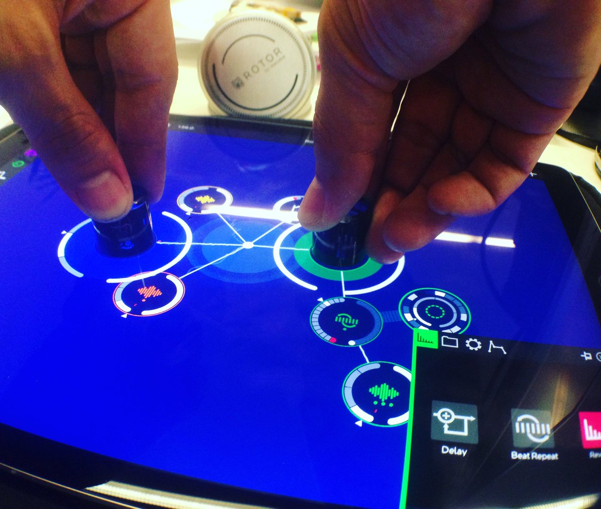 Final test day * Very Soon ROTOR by @reactable #music #electronic #EDM #objects #dj #control #techno #synth #app https://t.co/w7KM8bGJ75