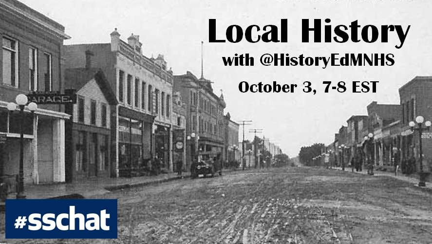 Join the conversation about local history today 6-7pm CST as we host #sschat! https://t.co/273aIXmlmC