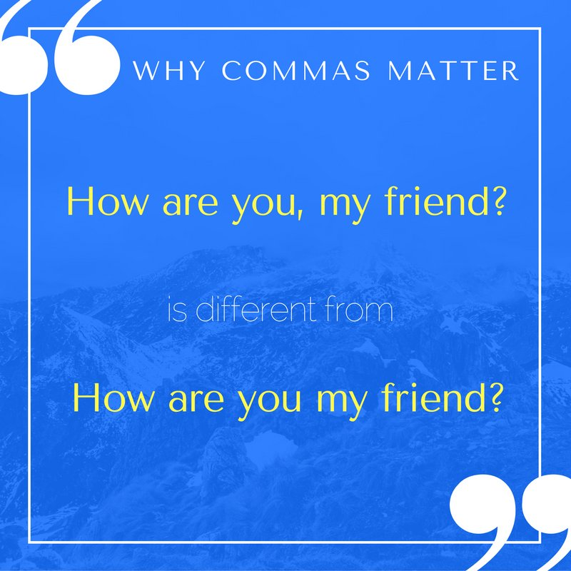 Commas matter! Check out the rule of direct address: https://t.co/e68fgWyTmn … https://t.co/NeoKMa8c0x