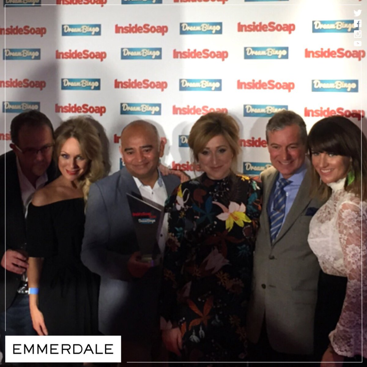 And we won Best Soap @InsideSoapMag Awards! Thanks so much to all of our fans! xx #LoveOurFans #Emmerdale