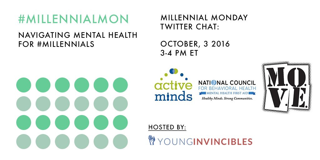 Welcome to #MillennialMon! Today's topic: Navigating #MentalHealth for #Millennials https://t.co/APUxrCq5gR