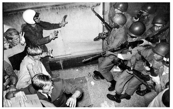 OTD In NationalGuard History Chicago Eight Protest The 68 DNC Convention And Are Put On Trial IL NG Quash Civil Disorder 1968pictwitter