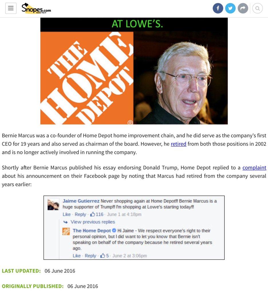 Home Depot Co-Founder Endorses Donald Trump