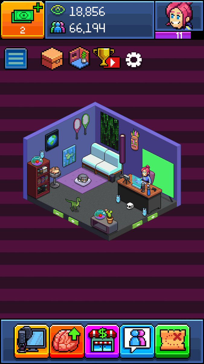 Jen on Twitter New Tuber Simulator room design pewdiepie