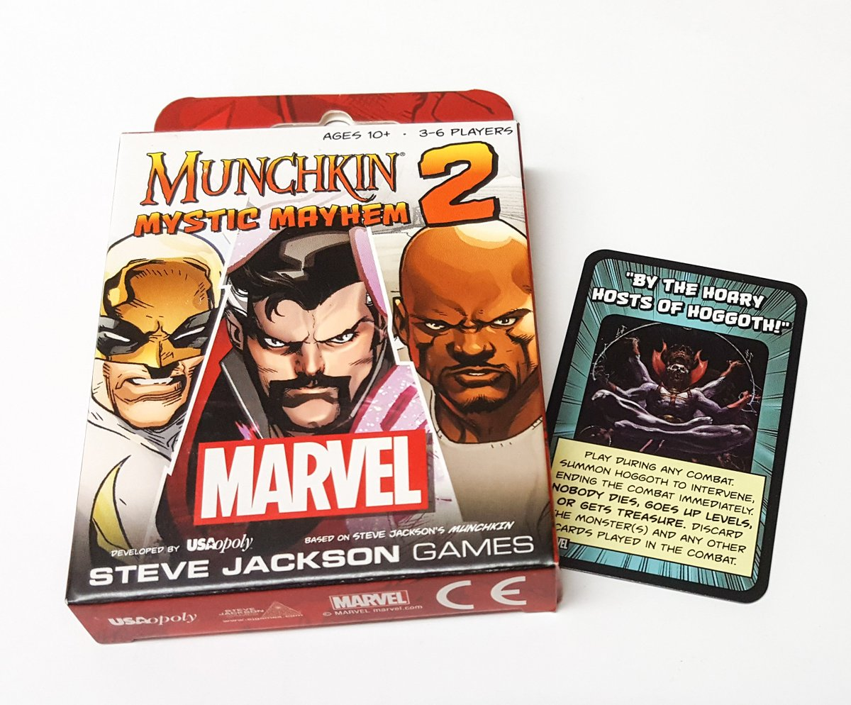 It's #MarvelMonday! Follow and retweet for a chance to win a copy of #MunchkinMarvel2 with promo! -HS https://t.co/xDeChxoc6K