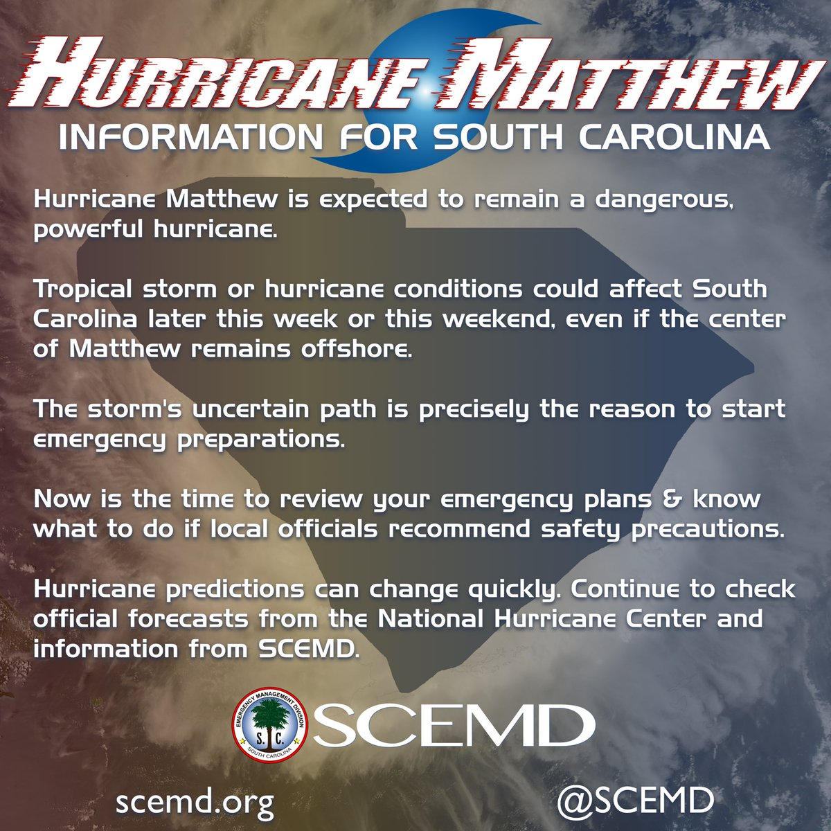 What are some safety precautions for hurricanes?