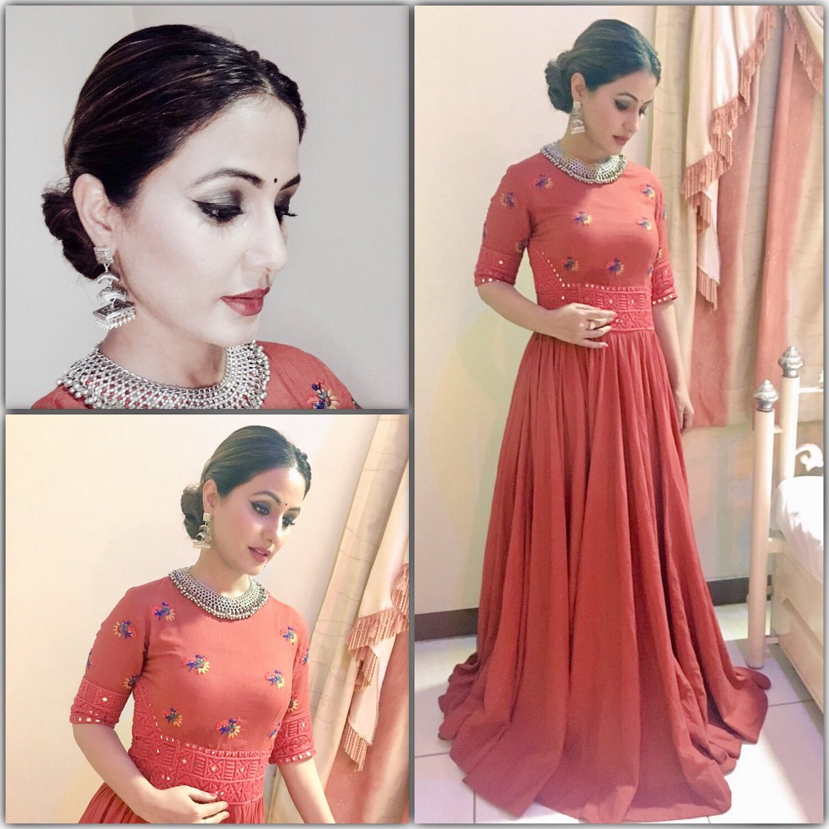 Hina Khan On Twitter Wearing Dis Natural Red Khadi Outfit Frm