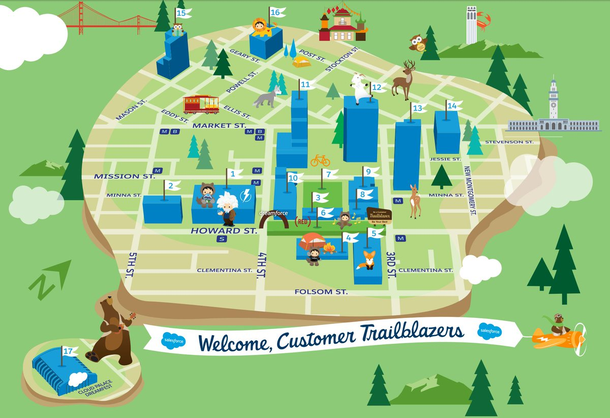 Dreamforce Campus Map on
