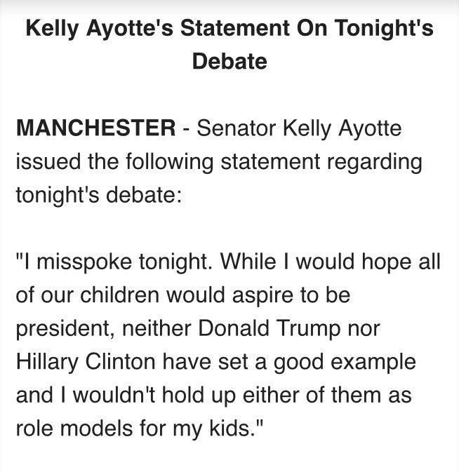 My statement on tonight's debate: https://t.co/BxNE0NQn6m