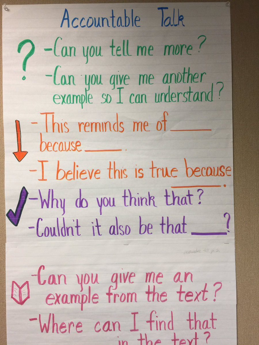 Sonal Patel On Twitter Captured Pics Of Accountable Talk Anchor Charts By Isabelsoliz Romolandsd Elstrategies Romogrows