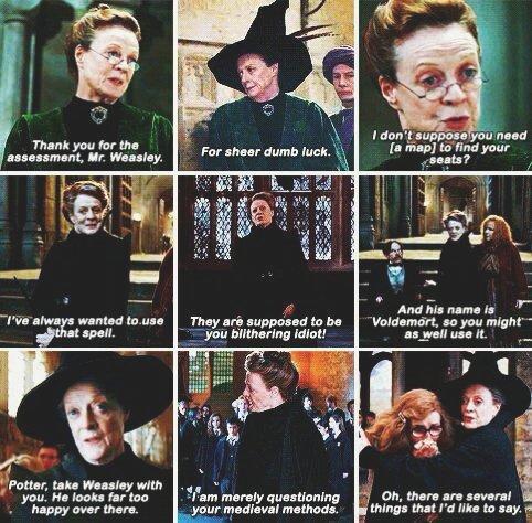 harry potter world on professor mcgonagall quotes