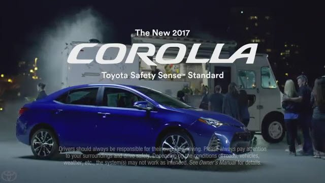 Http Www Tvcommercialspots Automobile Transport Toyota Tv Commercial The New 2017 Corolla With Safe Sense As Standard You Dont Own Me
