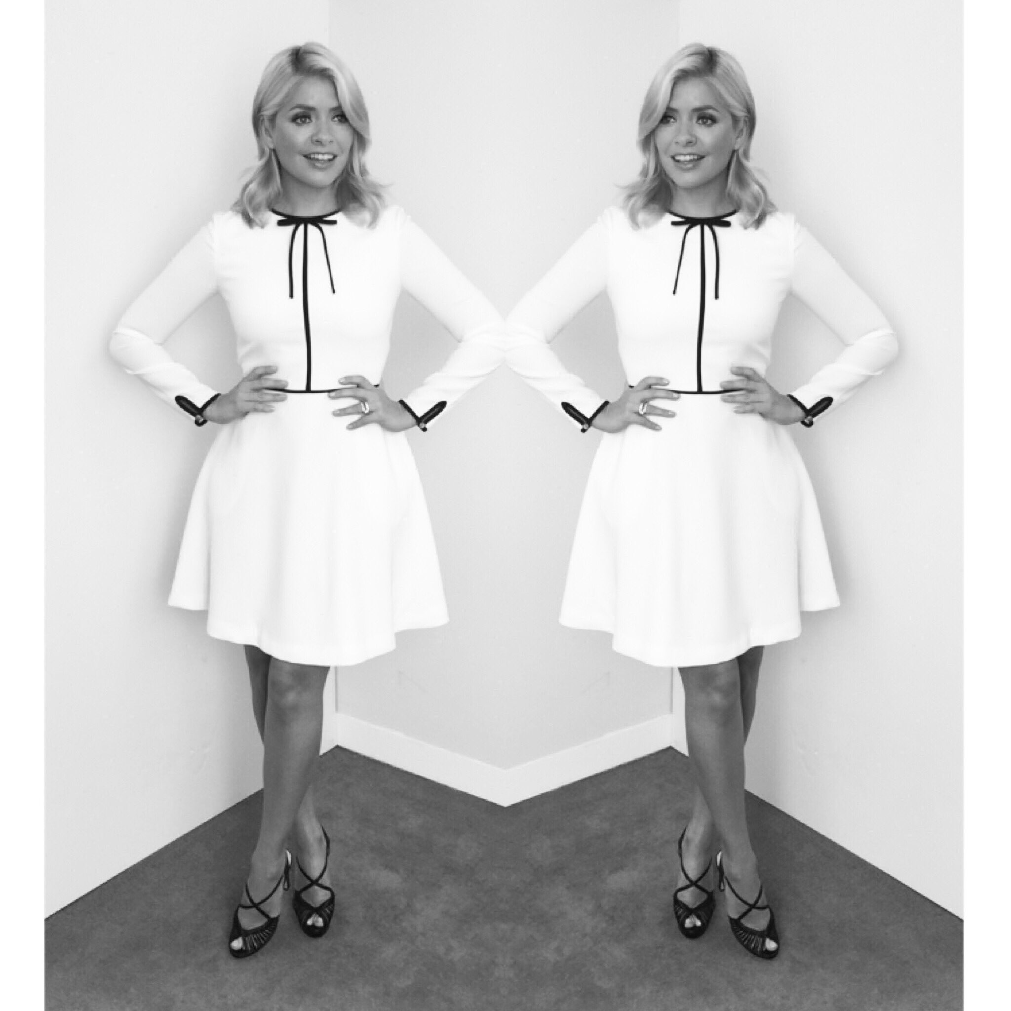 Today's look on @thismorning dress by Ted Baker and shoes by L K Bennett xxx https://t.co/d4SeIxOKvQ