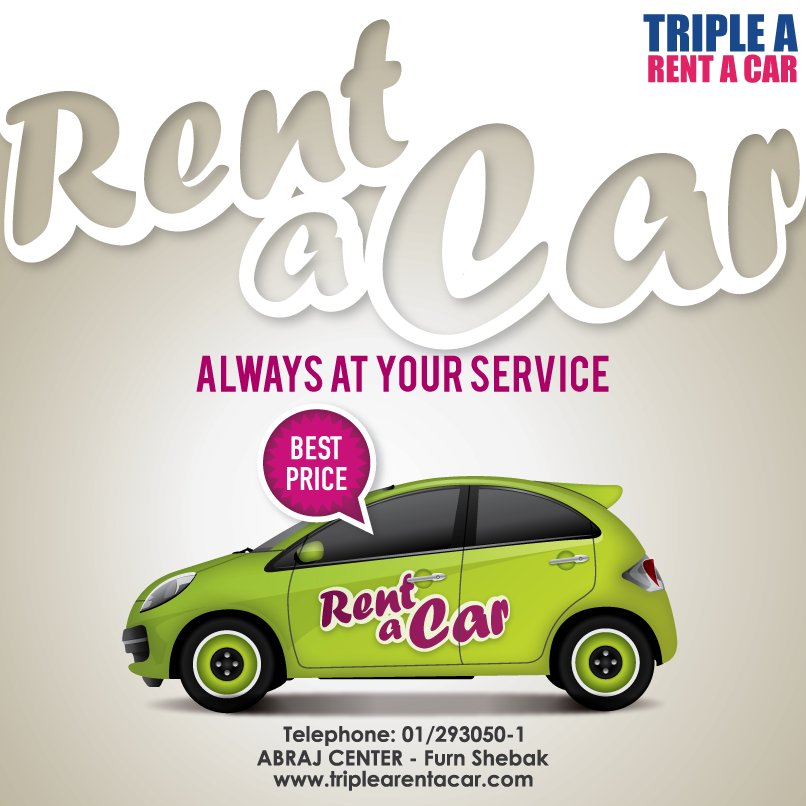 Triple A Rental >> Triple A On Twitter Always At Your Service Abraj Center Furn Al