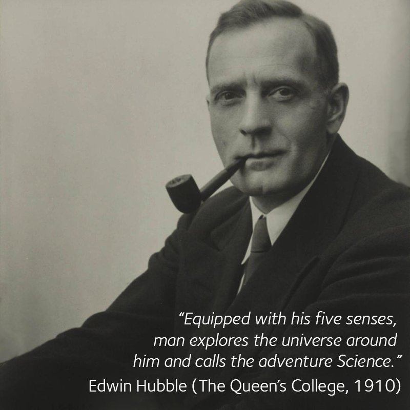 Oxford Alumni On Twitter Famous Quotes Edwin Hubble The