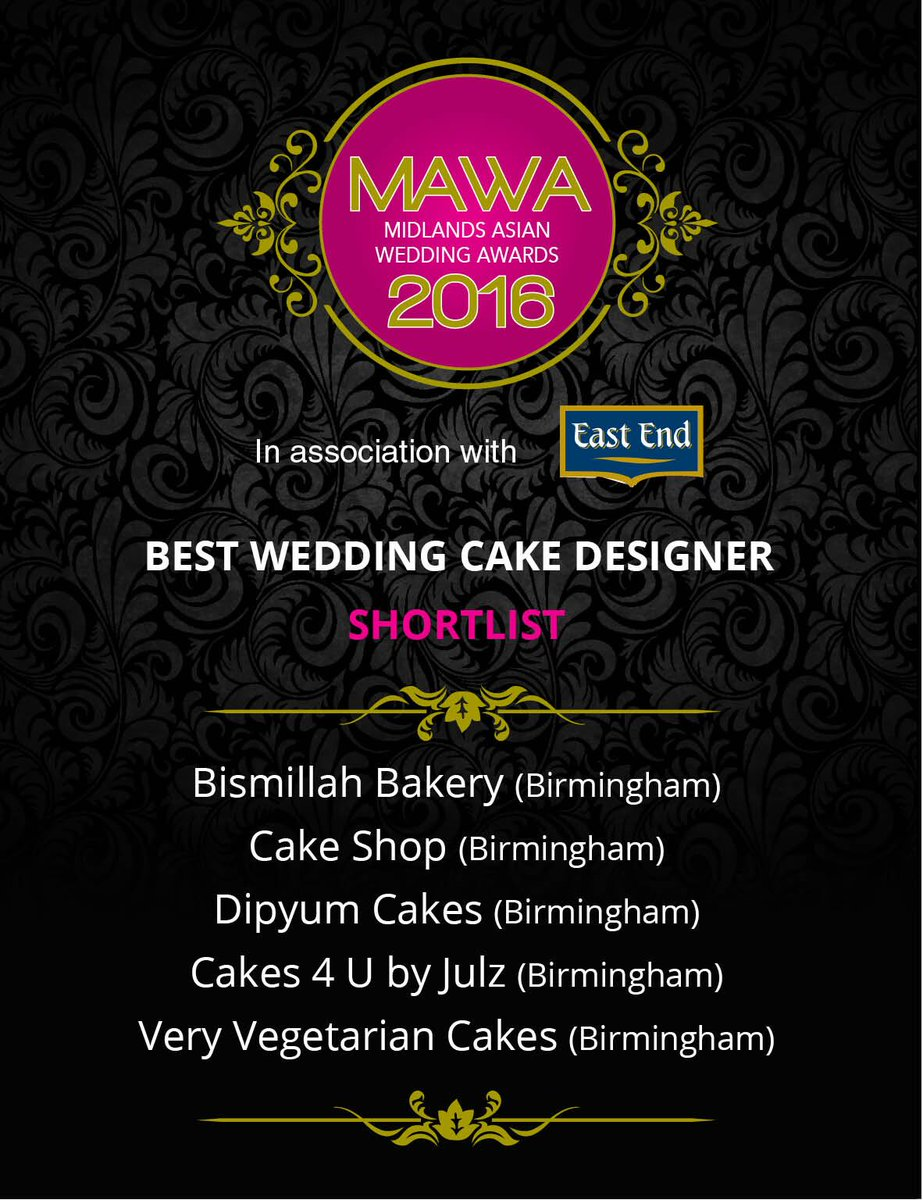 Congratulations for making it on the shortlist for Best Wedding Cake Design! See more finalists at: https://t.co/KiWslJH4RU  #MAWA2016 https://t.co/0isgRrq5od