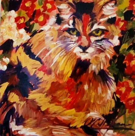"Someone to love. Acrylic on canvas. 24x24"" #artistsandtheircats #inspiringfriends<br>http://pic.twitter.com/UKJ2yOJ0NS"