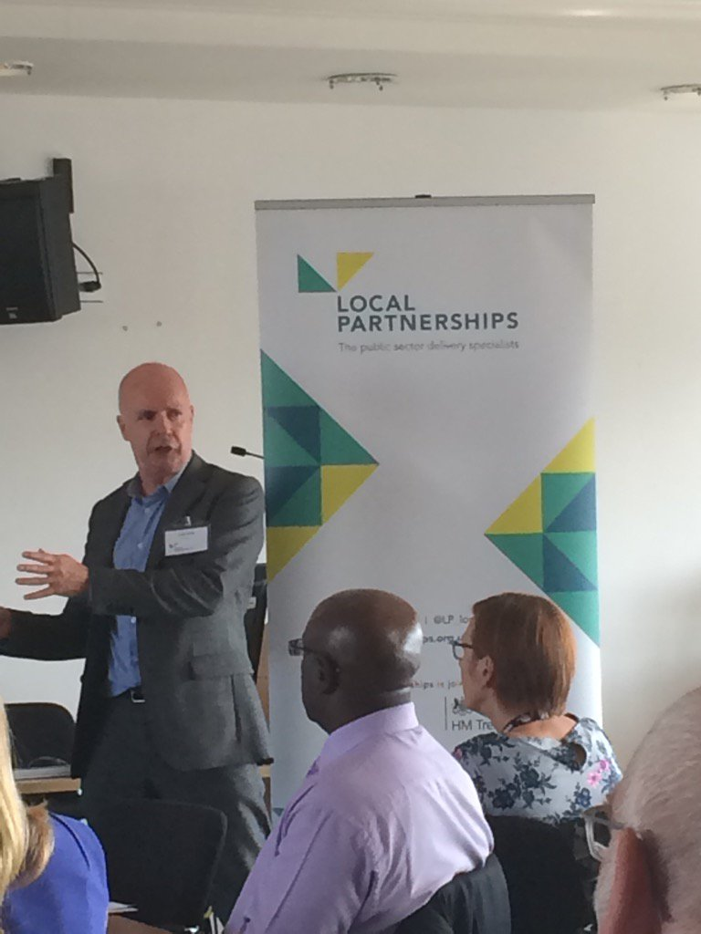 Peter Quinn from Lovell busting myths about private & public sector partnerships, helping to deliver #housing